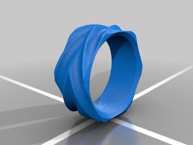 六边形指环 3D打印模型渲染图