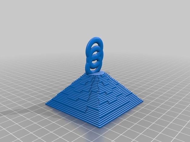 金字塔坠饰 3D打印模型渲染图