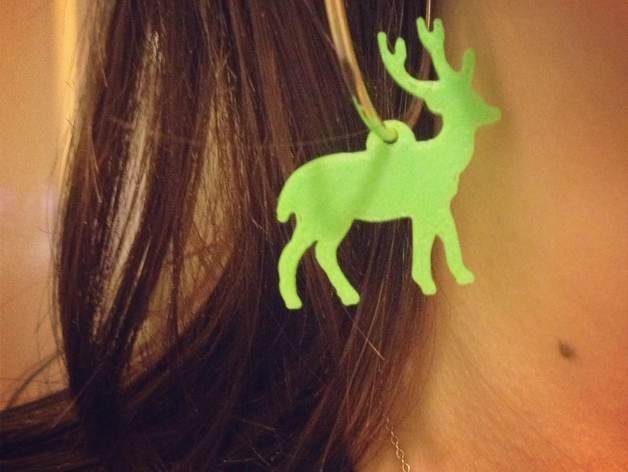 麋鹿形圣诞耳环