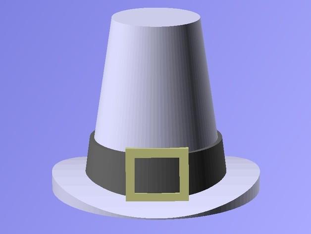 感恩节帽子 3D打印模型渲染图