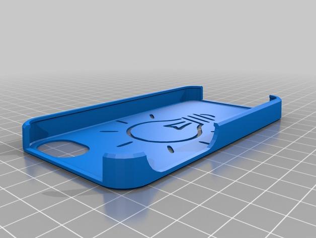 灯状背景的手机壳 3D打印模型渲染图