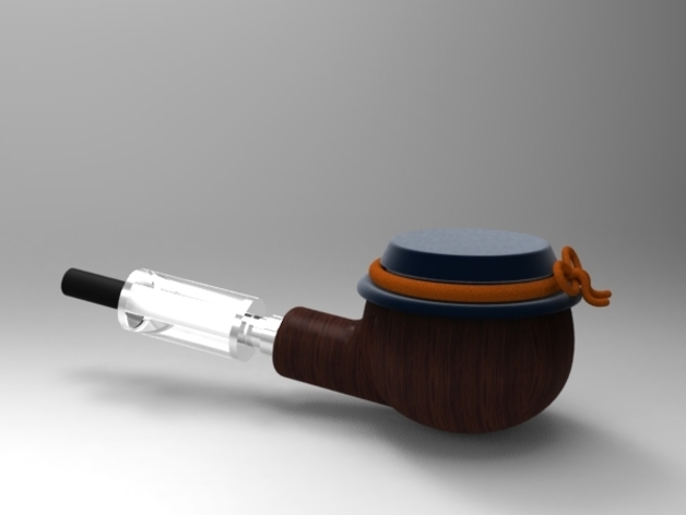 简易烟斗 3D打印模型渲染图