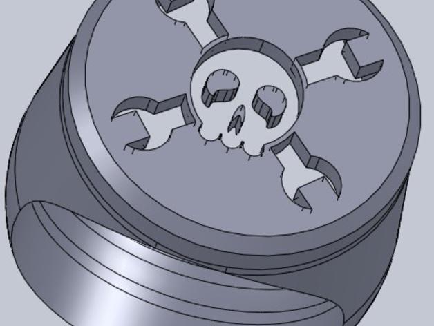 Hack A Day戒指 3D打印模型渲染图