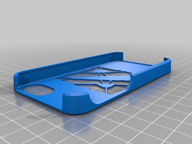 魔兽争霸 iPhone4s手机保护套 3D打印模型渲染图