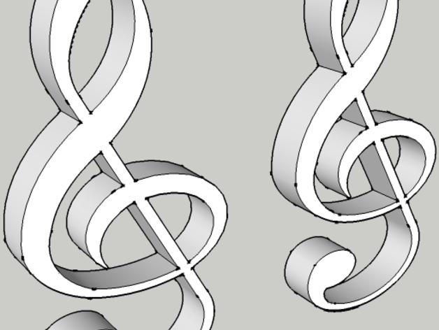 音符耳坠 3D打印模型渲染图