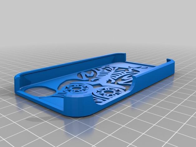 猫头鹰 IPhone 外壳 3D打印模型渲染图