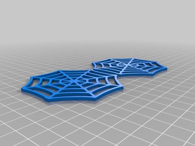 蜘蛛网 耳坠 3D打印模型渲染图