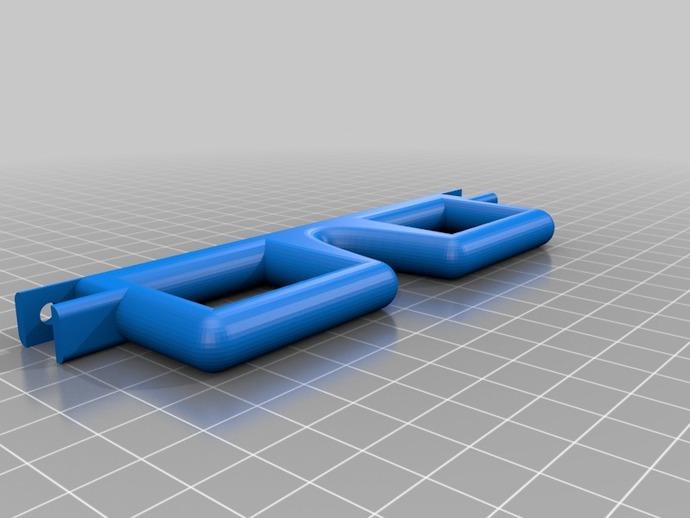 方形边框眼镜 3D打印模型渲染图