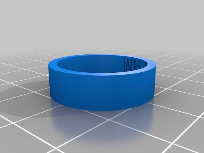 白虎戒指 3D打印模型渲染图