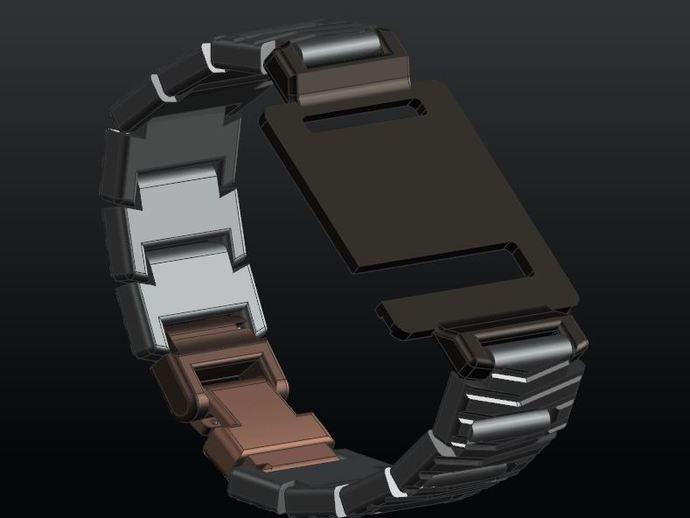 手表带 3D打印模型渲染图