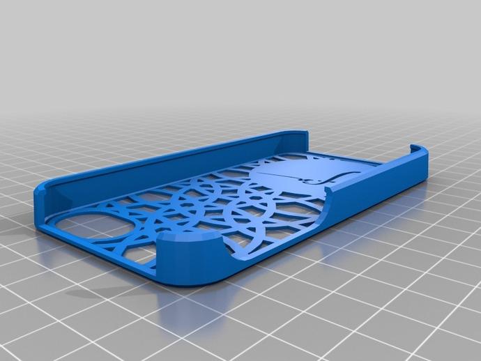阿塔图尔克签名iPhone手机保护壳 3D打印模型渲染图