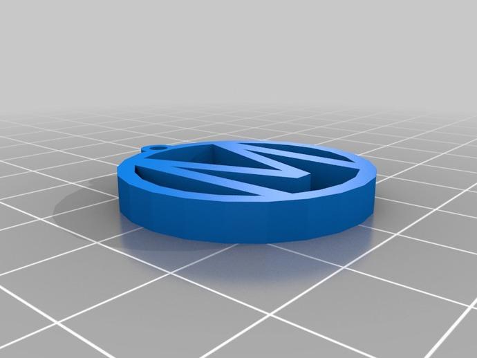 M字母挂饰 3D打印模型渲染图