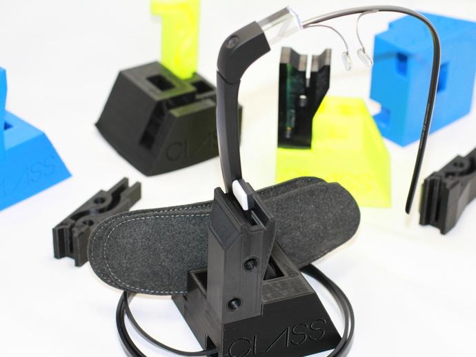谷歌眼镜台 3D打印模型渲染图