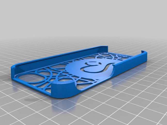 狮子iPhone5手机保护壳 3D打印模型渲染图