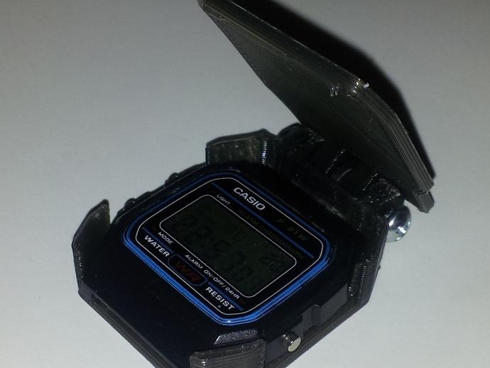 卡西欧手表袋 手表盒 3D打印模型渲染图