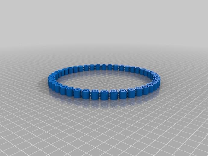 我的定制手环 3D打印模型渲染图