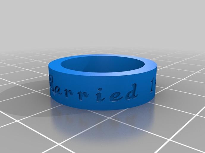 丢了不懊悔的结婚戒指 3D打印模型渲染图