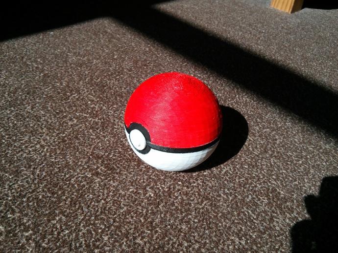 神奇宝贝球 3D打印模型渲染图