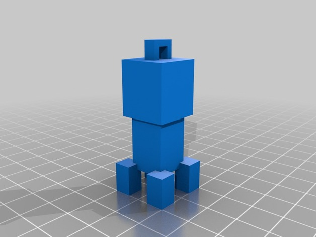 爬行者钥匙坠 3D打印模型渲染图