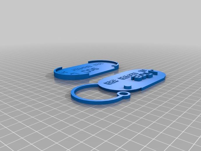 行李箱标签 3D打印模型渲染图