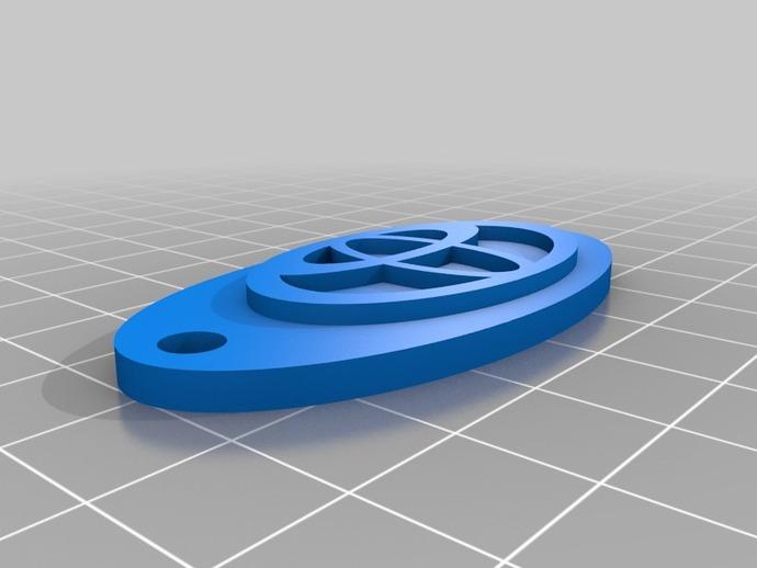 本田标志钥匙链 3D打印模型渲染图