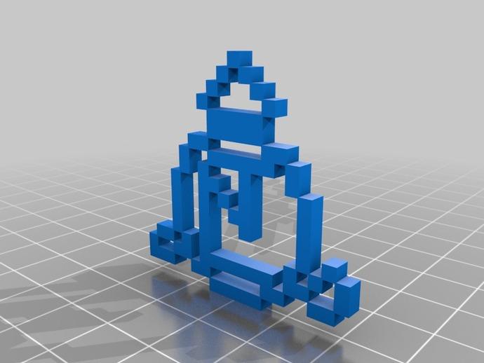 像素级超自然天使消亡印记 3D打印模型渲染图