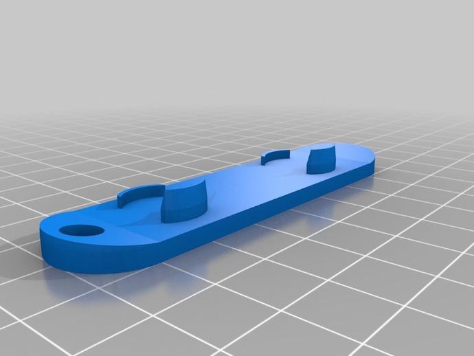 滑雪板钥匙链 3D打印模型渲染图