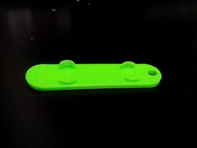 滑雪板钥匙链