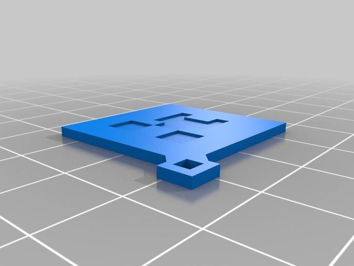 爬行者钥匙扣 3D打印模型渲染图