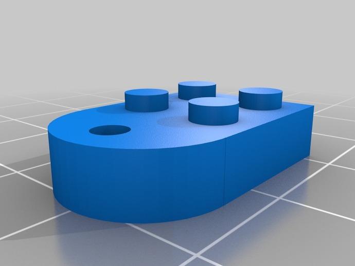 乐高心形积木 3D打印模型渲染图