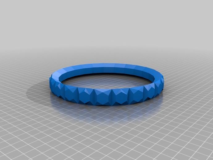简易手环 3D打印模型渲染图