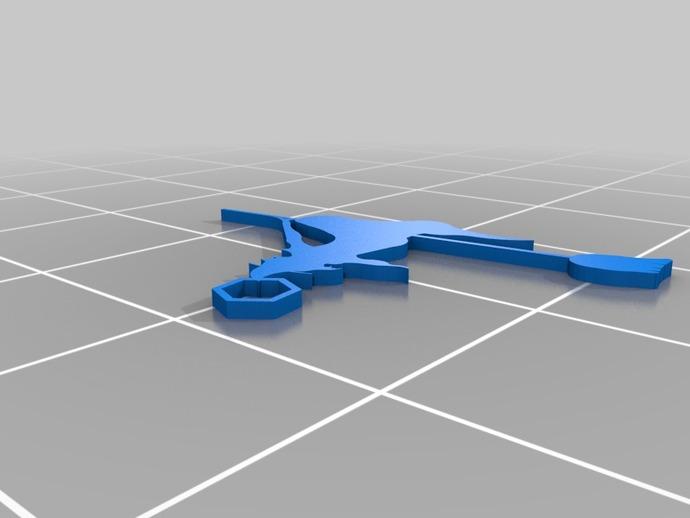女巫耳环 3D打印模型渲染图