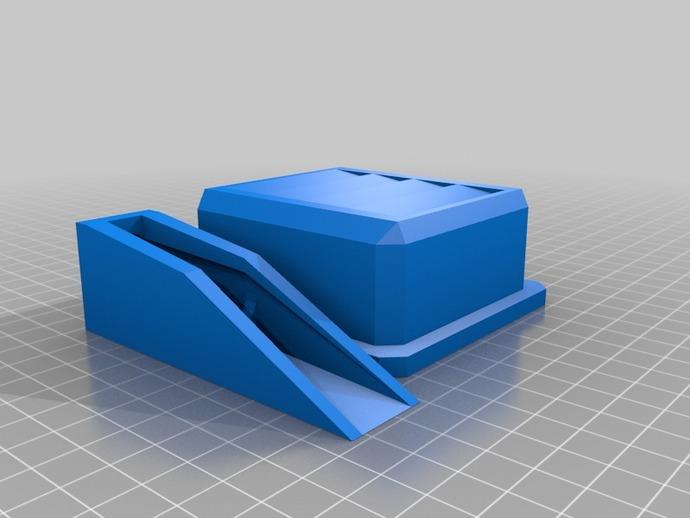 高科技镜片壳 3D打印模型渲染图