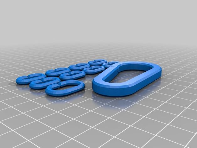 锁链 锁扣 登山扣 3D打印模型渲染图