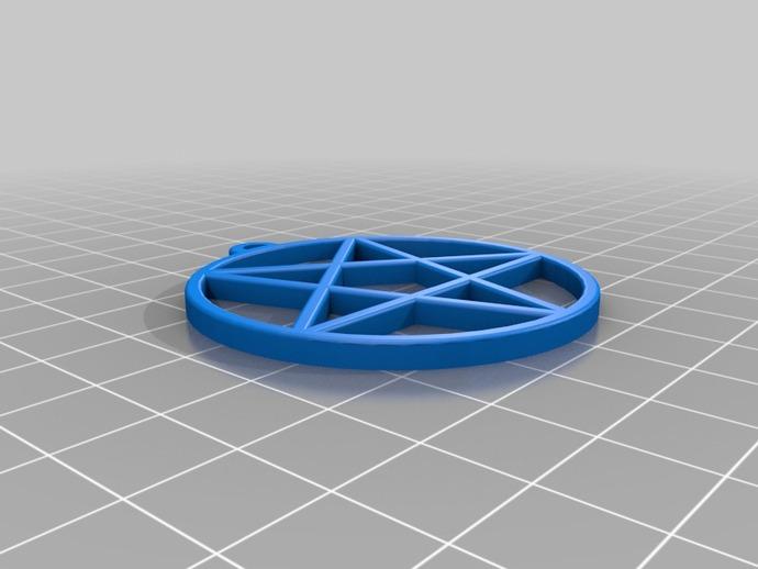 五角星吊坠 3D打印模型渲染图