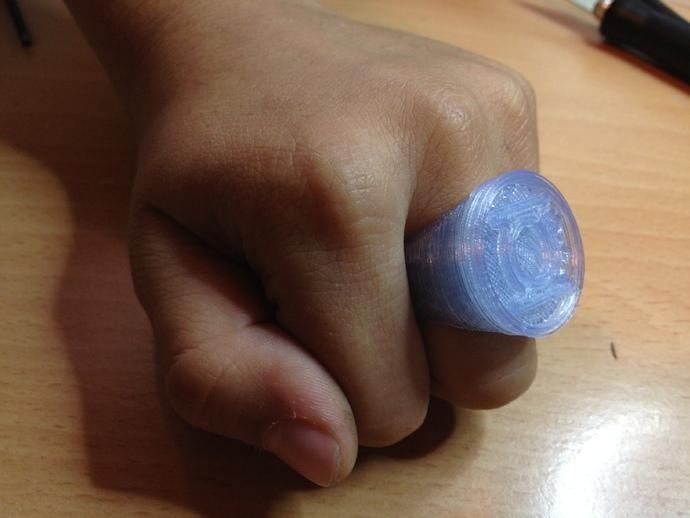 绿色灯罩戒指