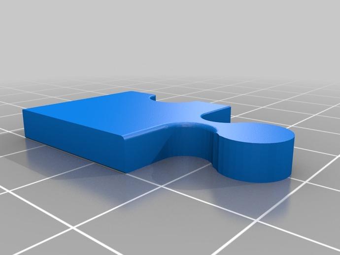 拼图耳环 3D打印模型渲染图