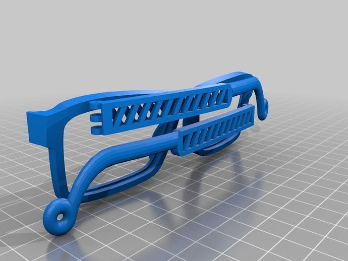 英式风眼镜 3D打印模型渲染图