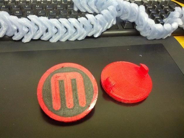 双扣圆币 3D打印模型渲染图