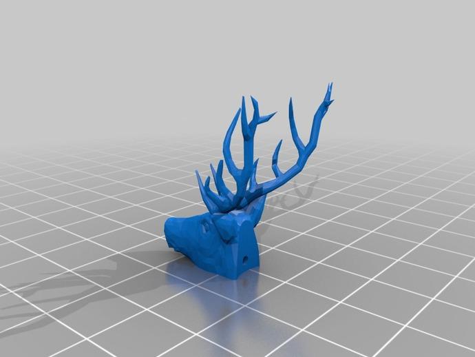 雄鹿头戒指 3D打印模型渲染图