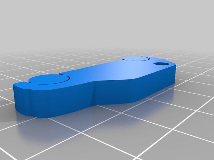 Mini Cooper钥匙链 3D打印模型渲染图