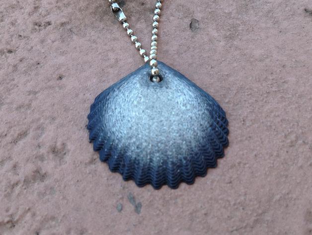 菱铁矿壳吊坠 3D打印模型渲染图