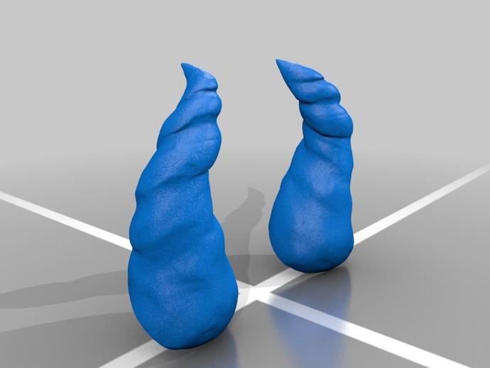 小犀牛角 3D打印模型渲染图