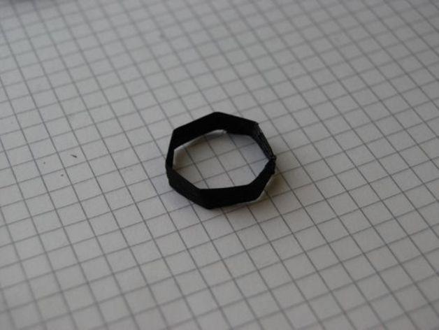 七边形戒指 3D打印模型渲染图