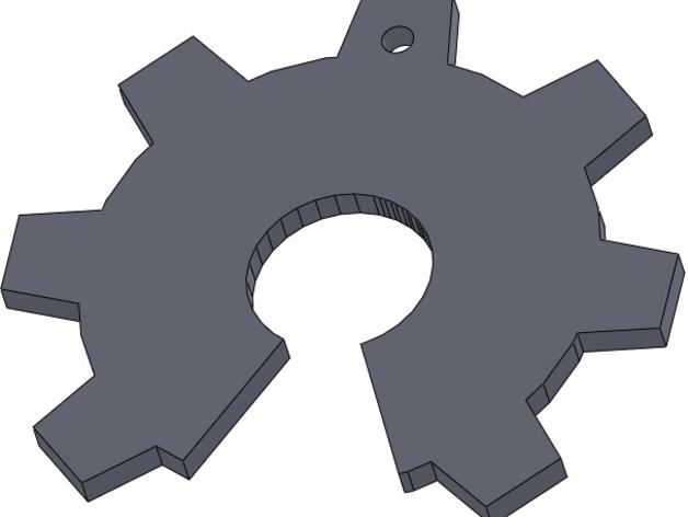 齿轮项链 3D打印模型渲染图