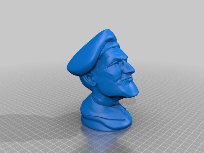 陆军上校雕塑