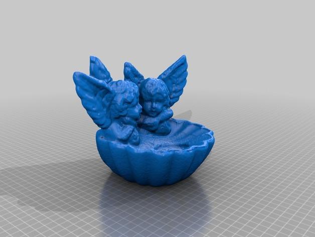 天使烛台 3D打印模型渲染图