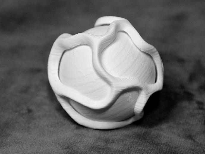 藤条球 3D打印模型渲染图
