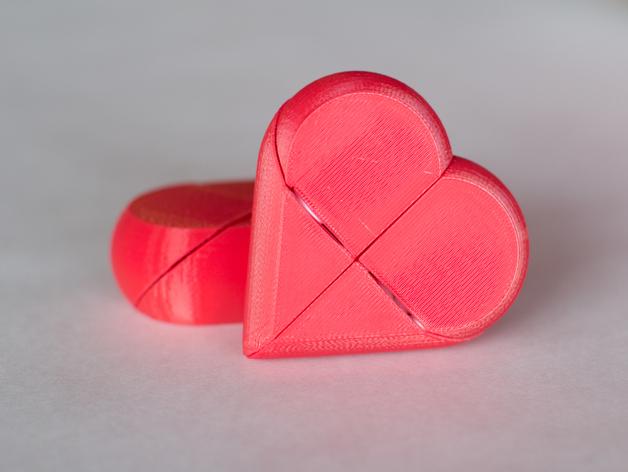 心形锁盒 3D打印模型渲染图