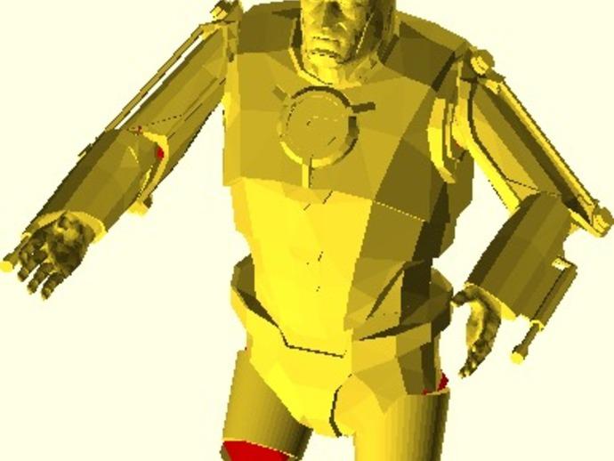 仿真 人物小雕像 3D打印模型渲染图